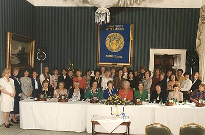 Founder Members at the Charter Ceremony under the Banner