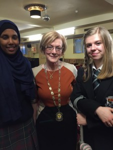 President Moya Murphy with Milky Shariffas  and Heather Dignam